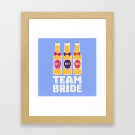 Team Bride Beerbottles B26ll Framed Art Print