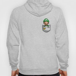 Pocket Luigi Super Mario T-Shirt Hoody