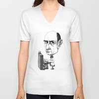 arnold V-neck T-shirts featuring Arnold Schoenberg by Gareth Southwell
