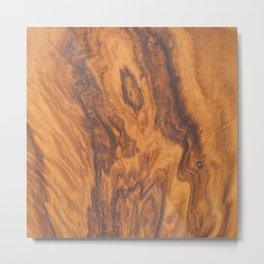 Brown faux wood background Metal Print