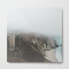 Bixby Bridge in the Fog Metal Print