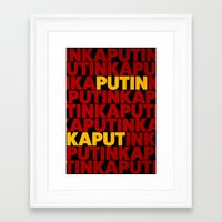 propaganda Framed Art Prints featuring Propaganda by Bakus