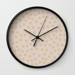 Self-love dots - Beige and green Wall Clock