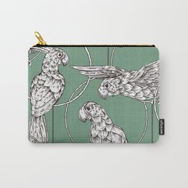 Tropical Parrots in Rings Carry-All Pouch