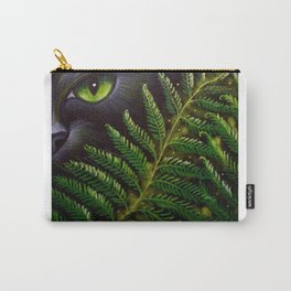 BLACK CAT BEHIND THE FERNS Carry-All Pouch