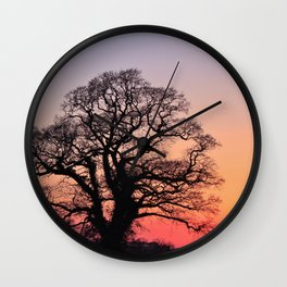 Sunset, Lttle and Large Wall Clock