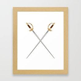 Crossed Infantry Swords Framed Art Print
