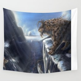 Danger Through the Mountain Pass Wall Tapestry