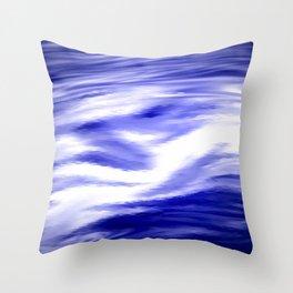 Blue water. Throw Pillow
