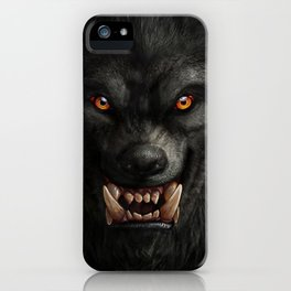 Creepy Art, Halloween, Werewolf, Horror Art iPhone Case