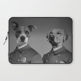 Crime Fighting Pooches Laptop Sleeve