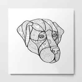 Labrador Retriever Mandala Metal Print