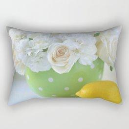Polka Dots and a Lemon Rectangular Pillow