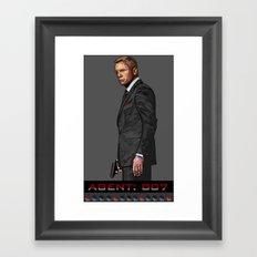 AGENT: 007 Framed Art Print