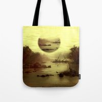jazzberry Tote Bags featuring Illusive visions float above my head... by Donuts