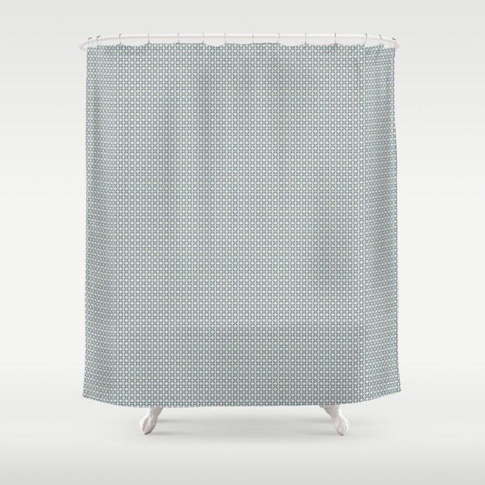 Basket Weave BG mini Shower Curtain