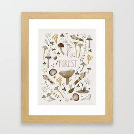 Northern forest (white) Framed Art Print