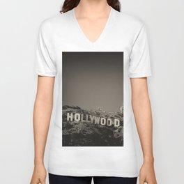 Vintage Hollywood sign Unisex V-Neck