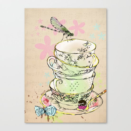 high tea Canvas Print