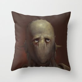 SAD ROBOT NO.1 Throw Pillow
