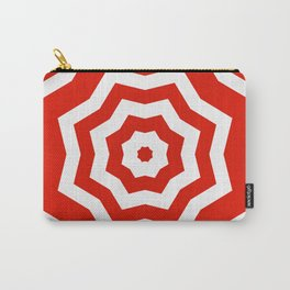 Red and white abstract star pattern Carry-All Pouch