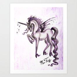 Unicorn with Bat Wings Art Print