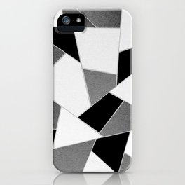 Gray Black White Geometric Glam #1 #geo #decor #art #society6 iPhone Case