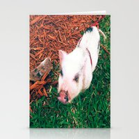 piglet Stationery Cards featuring Piglet {Instagram} by JJBegonia