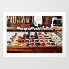Breakfast Tarts Art Print