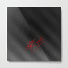 Michael Schumacher signature Metal Print