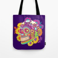 calavera Tote Bags featuring Calavera by KoolaidGirl