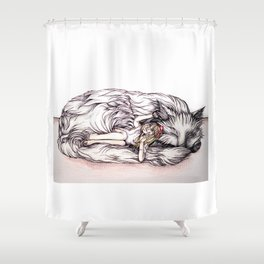 Can I Snuggle With You? Shower Curtain