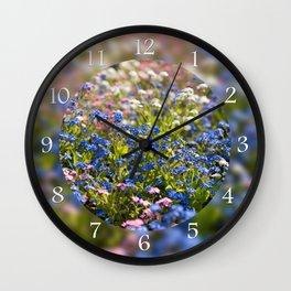 Myosotis flowering in spring Wall Clock
