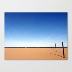 The beach of Valencia is a paint by Dalì Canvas Print