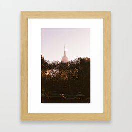 Pink Empire State Framed Art Print