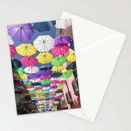 Umbrellas in Old San Juan Stationery Cards