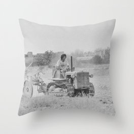 Malta 1994 Agriculture at the plow Throw Pillow