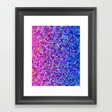 Pink and blue triangles Framed Art Print