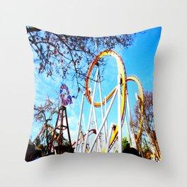 No. 9 Roller Coaster Throw Pillow
