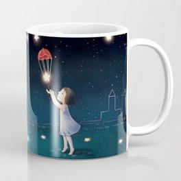 Wish Girl At Night Coffee Mug