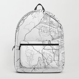 Colorado Springs Map White Backpack