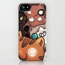 Silly cats iPhone Case