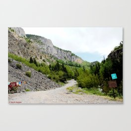 The Turnoff to the Perilous Engineer Pass Road, No. 2 of 5 Canvas Print