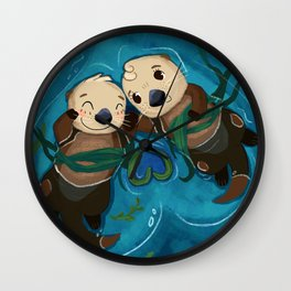 a whole l'otter love Wall Clock