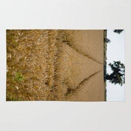 Tramlines in a wheat field Rug