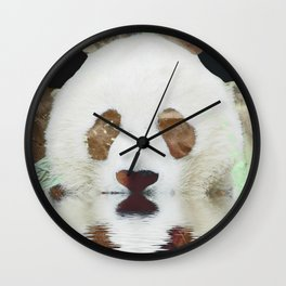 Panda Reflection Wall Clock