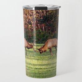 Elk Sparring Great Smoky Mountains Travel Mug
