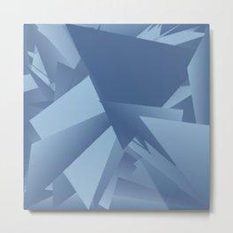 Airy Blue Riverside 1 Metal Print