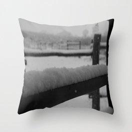 Stunning Snowy Saturday Throw Pillow