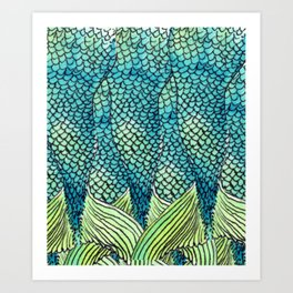 Mermaid Print Art Print